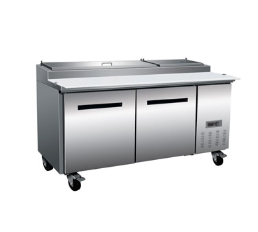 "MaxxCold X-Series 70"" Refrigerated Pizza Prep Table, 22 Cu. Ft. - MXCPP70"