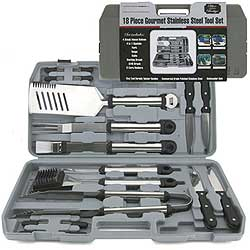 18 Pc. Oval Stainless Steel Tool Set