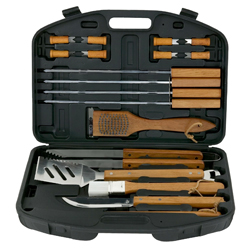 18 Pc. Stainless Steel Tool Set with Plastic Case
