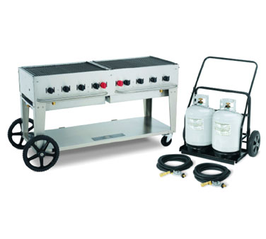 Crown Verity Outdoor Grill with Tank Cart MCC-60