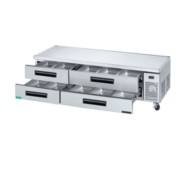 MaxxCold Refrigerated Chef Base MCCB72, 71 Inches Wide
