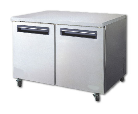 MaxxCold Reach-In Undercounter Freezer, 2 section MCF48U