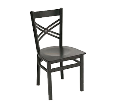 Florida Seating Chair MET-06S-SS-BLACK