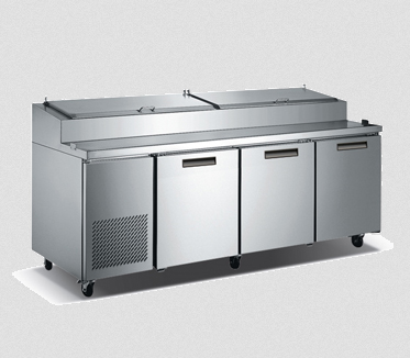 Metalfrio Pizza Prep Table, Three Section - PICL3-92-12