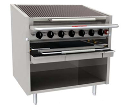 Magikitchn Radiant Floor Gas Charbroiler FM-RMB-624CR, 24 Inches Wide