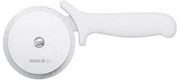 "Mundial Stainless Steel 4"" Pizza Cutter With White Plastic Handle"