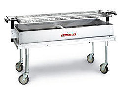 "MagiKitchn Deluxe Transportable 60"" Charcoal Grill"