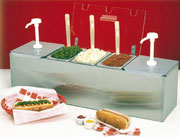 Nemco Roll-A-Grill Condiment Station