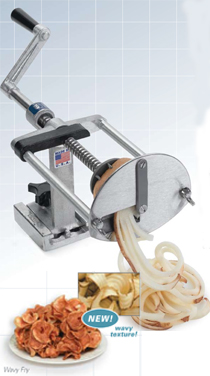 NEMCO French Fry Potato Cutter - Wavy Ribbon Fries - 55050AN-WR