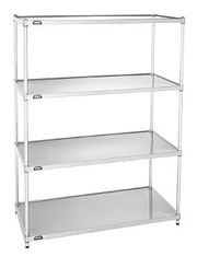 Nexel Chrome Starter Wire Shelving Unit