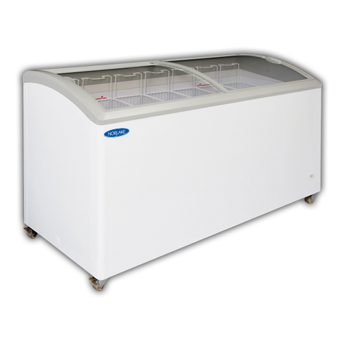 Norlake Curved Lid Display Freezer, 71 Inches Wide, 20.5 Cu. Ft. - CTB71-17