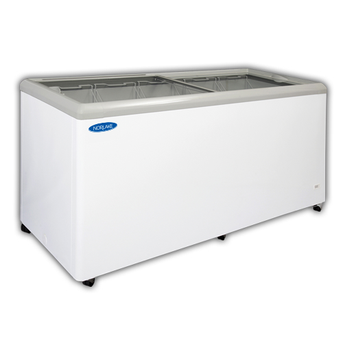 Norlake Flat Lid Display Freezer, 71 Inches Wide, 20 Cu. Ft. - FTB71-17