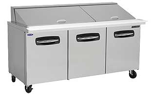 Nor-Lake Mega Top 3 Door Prep Table 72 Inch - NLSMP72-30A