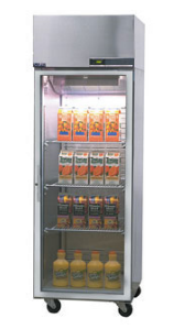 Nor-Lake Nova Pass-Thru Refrigerator One-Section hinged full glass doors one side - PR242SSG/0X