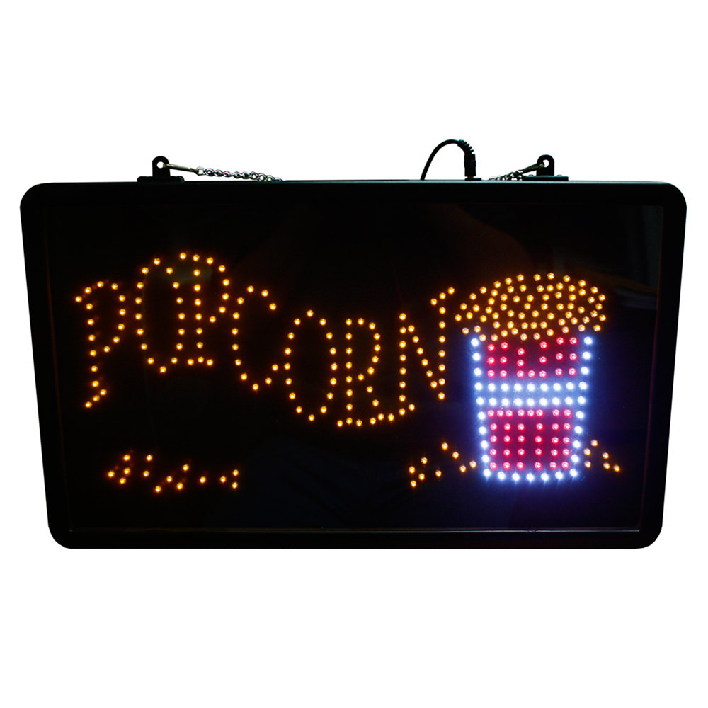 Lighted Popcorn Sign
