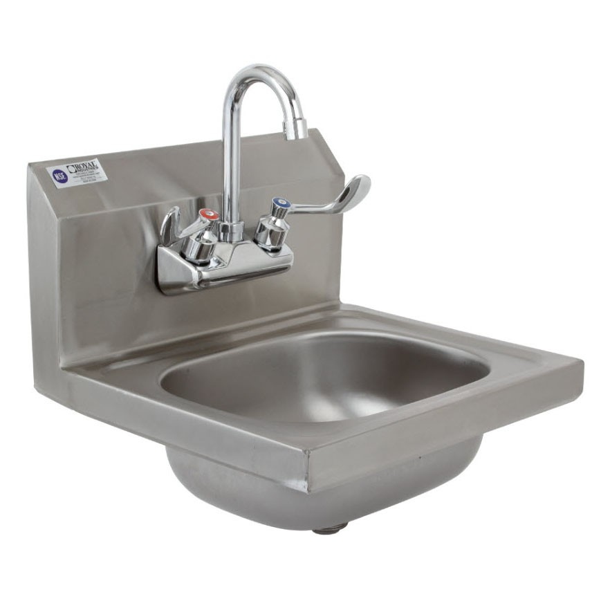 Stainless Steel Hand Sink With Gooseneck - ROY HSW 15