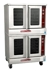 SilverStar Series Gas Convection Double Oven SLGB/22CCH, Extra Deep With Cook & Hold