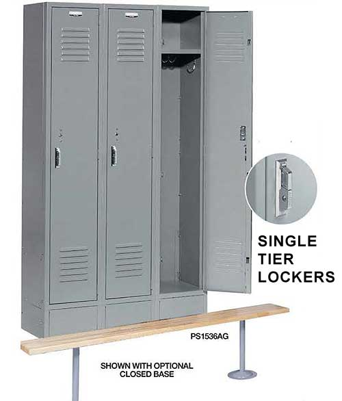 Nexel Paramount 12 x 12 x 60 Inch Single Tier Lockers PS1236K - 3 Door Locker Ready to Assemble ...  sc 1 st  ABestKitchen & Nexel Paramount Steel Lockers for Workplaces Restaurants Employees
