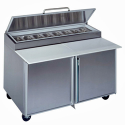 "Silver King Refrigerated Pizza Prep Table, 60"", 2 Doors"