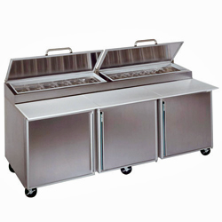 "Silver King Refrigerated Pizza Prep Table SKPZ92, 92"", 3 Doors"