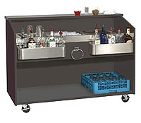 Bar King Duchess Portable Bar D-B, 5 Ft.
