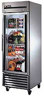 True Stainless Steel Glass Door Refrigerator T-23G
