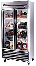 True Stainless Steel  Glass Door Refrigerator T-35G