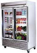 True Stainless Steel Glass Door Refrigerator T-49G-LD