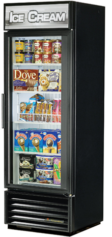 True Glass Door Freezer GDM-19T-F With Swing Doors