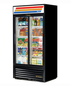 True Glass Door Cooler GDM-33-LD - 2 Sliding Doors