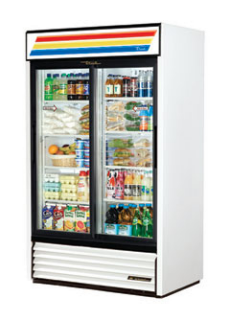 True Glass Door Cooler GDM-41-HC-LD - 2 Slide Doors, Hydrocarbon Refrigerant