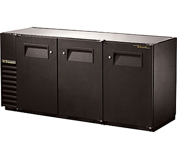 "True Back Bar Cooler, 24""D, 3-Section - TBB-24GAL-72-HC"