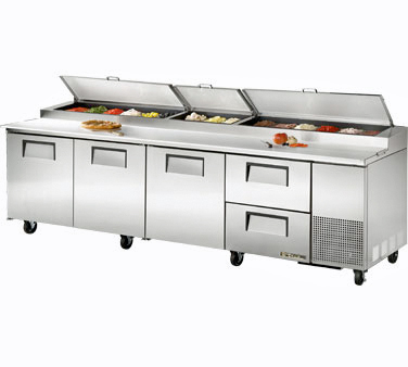 True Pizza Prep Table Tpp 119d 2 2 Drawers