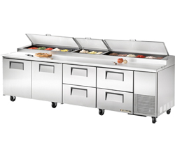 True Pizza Prep Table Tpp 119d 4 4 Drawers