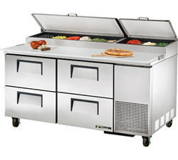 Refrigerated Pizza Prep Table TPP-67D-4 With 4 Drawers