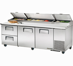 Pizza Prep Table Refrigerator TPP-93D-2 - 2 Drawers