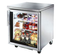 True Undercounter 1 Glass Door Refrigerator