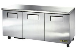 True Undercounter 3 Door Refrigerator