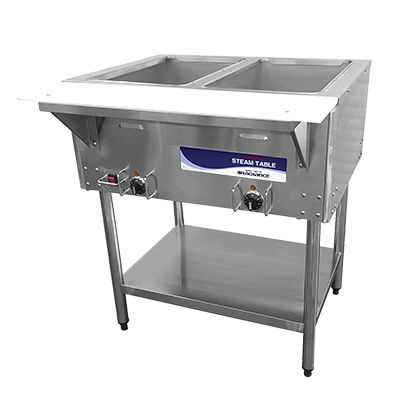 Radiance Electric Hot Food Steam Table Serving Counter - 2 Wells - RST-2P
