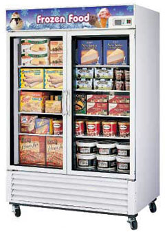 Turbo Air Glass Door Freezer TGF-49F - 2 Swing Doors