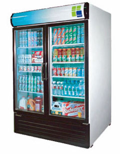 Turbo Air Glass Door Refrigerator - 2 Swinging Doors TGM-50RS