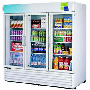 Turbo Air Glass Door Refrigerator - 3 Swing Doors