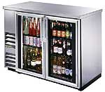 "True Back Bar Cooler, 24""D, TBB-24-48G-S-LD - Stainless, Glass Door"