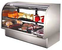True 6-Foot Curved Glass Deli Case TCGG-72-S