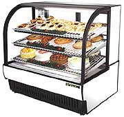 TRUE TCGR-50 Refrigerated Curved Glass Bakery Case