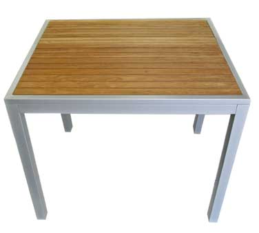 Florida Seating Outdoor Table TEAK-INLAY32X32