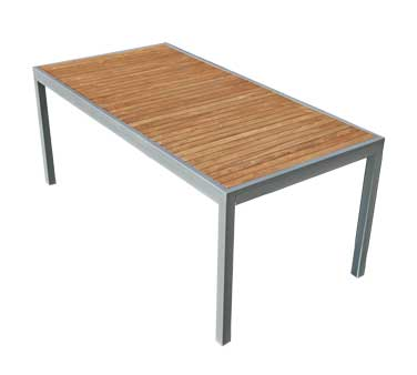 Florida Seating Outdoor Table TEAK-INLAY36X70