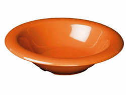 15 Ounce Melamine Soup Salad Pasta Cereal Bowls, One Dozen Orange