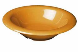 15 Ounce Melamine Soup Salad Pasta Cereal Bowls, One Dozen Yellow