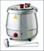 10-1/2 Quart Glenray Premium Soup Cooker And Warmer, Stainless Steel Shell - 1024108